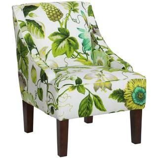 Skyline Furniture Swoop Arm Chair in Grandiflora Jardin