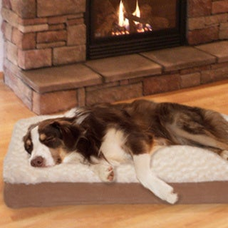 Furhaven Ultra Plush Deluxe Orthopedic Pet Bed (Jumbo-Cream)(As Is Item) 16878108