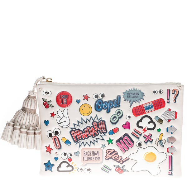 Anya Hindmarch All-Over Stickers Georgiana Clutch
