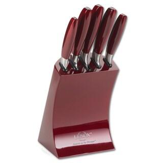 Profile Series German Steel 6-piece Cutlery Block Set, Ruby