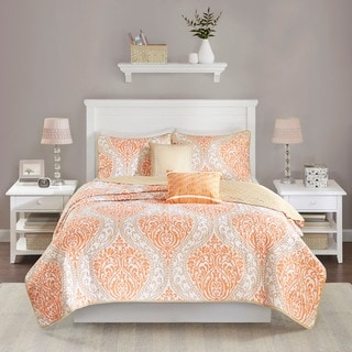 Intelligent Design Sabrina Orange Coverlet Set