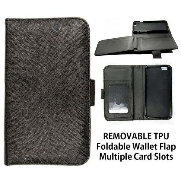 Insten Black Leather Case Cover with Wallet Flap Pouch/ Photo Display For Apple iPhone 6 Plus/ 6s Plus