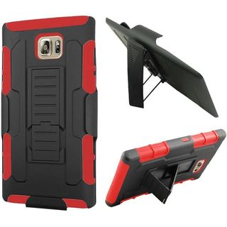 Insten Car Armor Hard PC/ Silicone Dual Layer Hybrid Case Cover with Holster For Samsung Galaxy Note 5