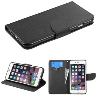 Insten Black Leather Case Cover with Stand/ Wallet Flap Pouch For Apple iPhone 6 Plus/ 6s Plus
