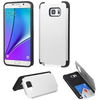 Insten Hard Snap-on Rubberized Matte Case Cover with Card Slot For Samsung Galaxy Note 5