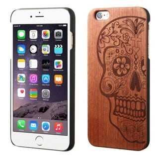 Insten Brown Mexican Sugar Skull Wood Case Cover For Apple iPhone 6 Plus/ 6s Plus