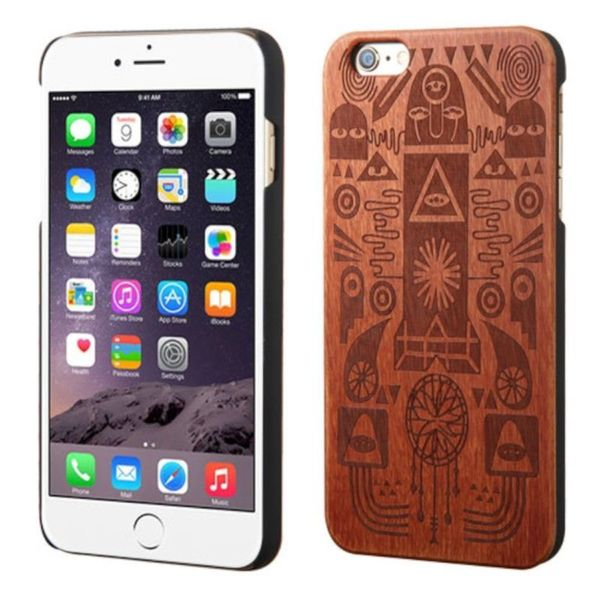 Insten Brown Ancient Egypt Art Wood Case Cover For Apple iPhone 6 Plus/ 6s Plus