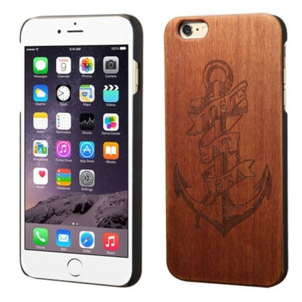 Insten Brown Lost At Sea Wood Case Cover For Apple iPhone 6 Plus/ 6s Plus