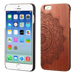Insten Brown Bohemian Flower Wood Case Cover For Apple iPhone 6/ 6s