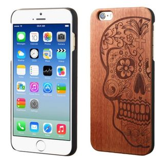 Insten Brown Mexican Sugar Skull Wood Case Cover For Apple iPhone 6/ 6s