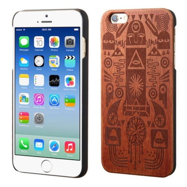 Insten Brown Ancient Egypt Art Wood Case Cover For Apple iPhone 6/ 6s
