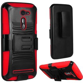 Insten Hard PC/ Silicone Dual Layer Hybrid Case Cover with Holster For ASUS Zenfone 2E