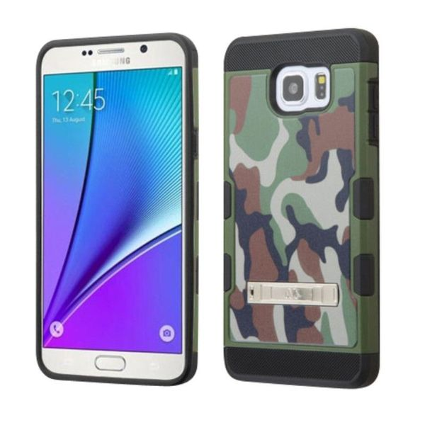 Insten Green/Black Camouflage Hard Snap-on Case Cover with Stand For Samsung Galaxy Note 5