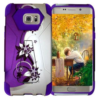 Insten Vines Hard PC/ Silicone Dual Layer Hybrid Case Cover with Stand For Samsung Galaxy S6 Edge Plus