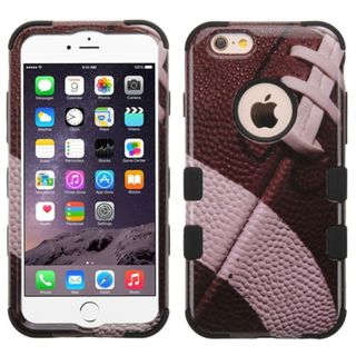 Insten Brown/Black Football Tuff Hard PC/ Silicone Dual Layer Hybrid Rubberized Matte Case Cover For Apple iPhone 6 Plus/6s Plus