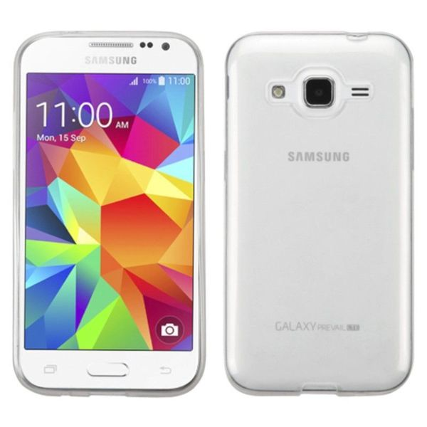 Insten Clear TPU Rubber Candy Skin Case Cover For Samsung Galaxy Core Prime