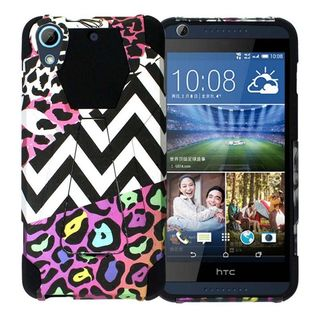 Insten Black/ White Safari Hard PC/ Silicone Dual Layer Hybrid Case Cover with Stand For HTC Desire 626/ 626s