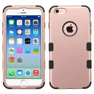 Insten Rose Gold Tuff Hard PC/ Silicone Dual Layer Hybrid Rubberized Matte Case Cover For Apple iPhone 6/6s