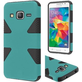 Insten Dynamic hard PC Silicone Dual Layer Hybrid Rubberized Matte Case Cover For Samsung Galaxy Grand Prime