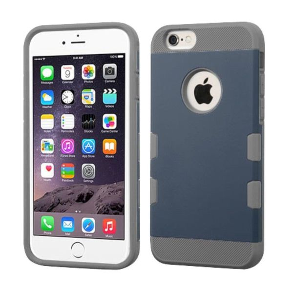 Insten Blue/Gray Hard Snap-on Case Cover For Apple iPhone 6 Plus/6s Plus