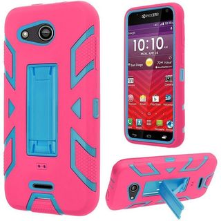 Insten Soft Silicone/ PC Dual Layer Hybrid Rubber Case Cover with Stand For Kyocera Hydro Wave