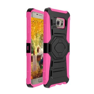 Insten Hard PC/ Silicone Dual Layer Hybrid Case Cover with Holster For Samsung Galaxy S6 Edge Plus