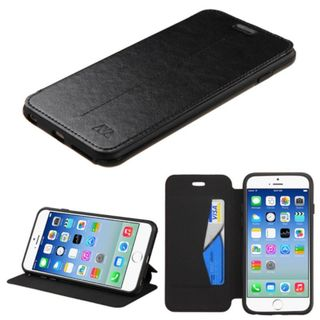 Insten Black Leather Case Cover with Stand/Wallet Flap Pouch/Photo Display For Apple iPhone 6/6s