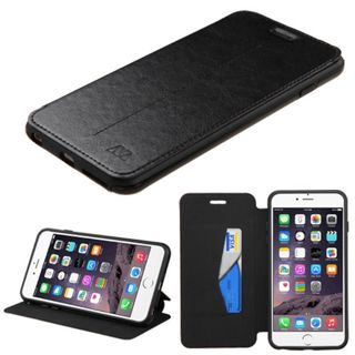 Insten Black Leather Case Cover with Stand/Wallet Flap Pouch/Photo Display For Apple iPhone 6 Plus/6s Plus