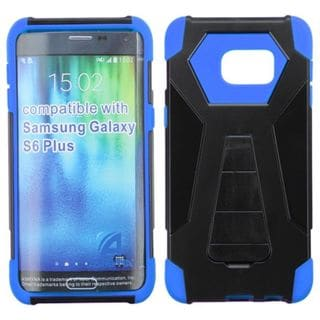 Insten Hard PC/ Silicone Dual Layer Hybrid Case Cover with Stand For Samsung Galaxy S6 Edge Plus