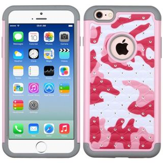 Insten hard PC Silicone Dual Layer Hybrid Rubberized Matte Case Cover For Apple iPhone 6/6s