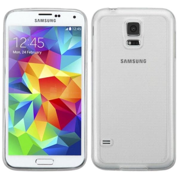 Insten Clear TPU Rubber Candy Skin Case Cover For Samsung Galaxy S5