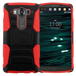 Insten hard PC Silicone Dual Layer Hybrid Case Cover with Holster For LG V10