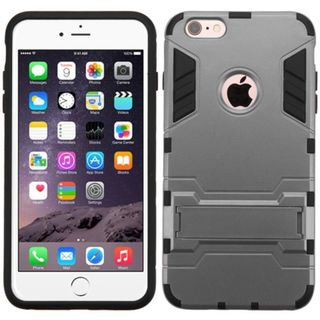 Insten hard PC Silicone Dual Layer Hybrid Rubberized Matte Case Cover with Stand For Apple iPhone 6 Plus/6s Plus