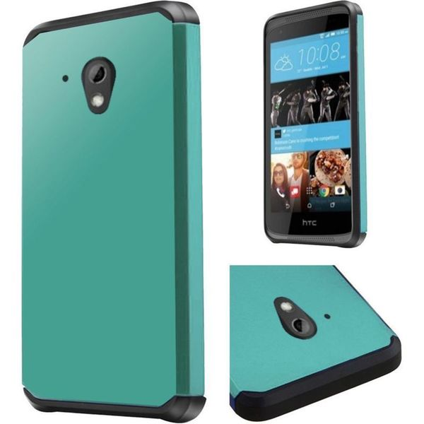 Insten Hard PC/ Silicone Dual Layer Hybrid Rubberized Matte Case Cover For HTC Desire 520