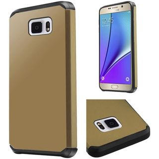 Insten Hard PC/ Silicone Dual Layer Hybrid Rubberized Matte Case Cover For Samsung Galaxy Note 5
