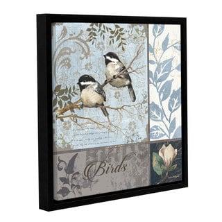 Anita Phillips 'Chickadee Sampler' Gallery Wrapped Floater Framed Canvas