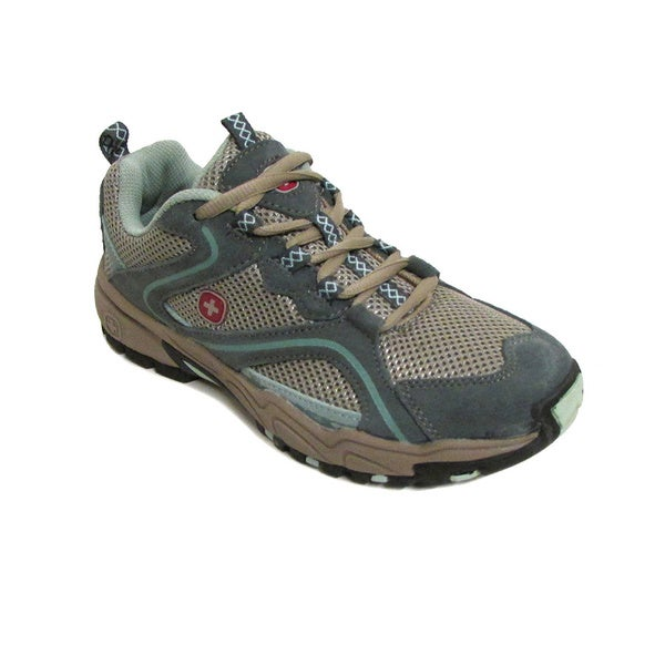 Swiss Gear Women's Niagra Grey/ Teal Hiking Shoes (Size 5.5)