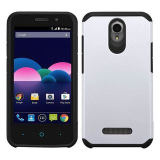 Insten hard PC Silicone Dual Layer Hybrid Rubberized Matte Case Cover For ZTE Obsidian