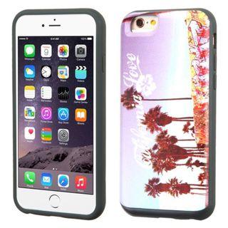 Insten Purple/White California Love Venice Hard PC/ Silicone Dual Layer Hybrid Case Cover For Apple iPhone 6 Plus/6s Plus