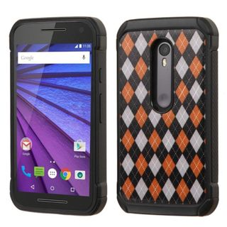 Insten hard PC Silicone Dual Layer Hybrid Rubberized Matte Case Cover For Motorola Moto G(3rd Gen)