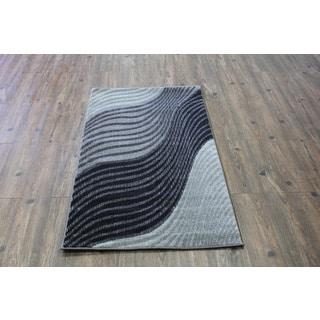 Silver/ Black/ Grey/ Indoor Area Rug (2'8 x 4'7)