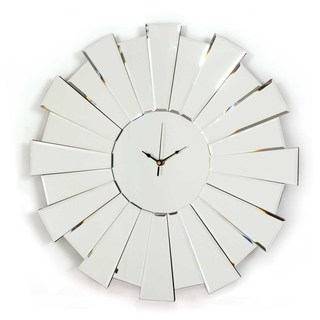 Selections by Chaumont Sunburst Glass Mirrored Clock