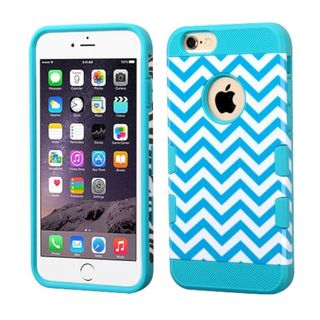 Insten Blue/ White Wave Hard Snap-on Case Cover For Apple iPhone 6 Plus/ 6s Plus