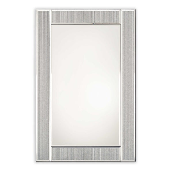 Selections by Chaumont Glitter Ascot Silver Rectangle Mirror
