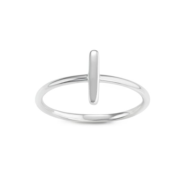 La Preciosa Sterling Silver Vertical Bar Ring