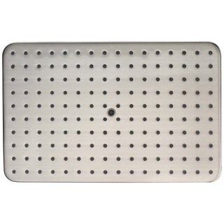 Dawn® Single Function Rectangle Rain Showerhead, Brushed Nickel
