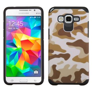Insten hard PC Silicone Dual Layer Hybrid Rubberized Matte Case Cover For Samsung Galaxy Grand Prime