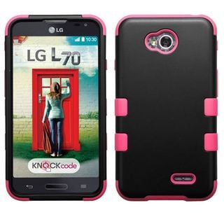 Insten Hard PC/ Silicone Dual Layer Hybrid Case Cover For LG Optimus Exceed 2 VS450PP Verizon/ Optimus L70/ Realm/ Ultimate 2