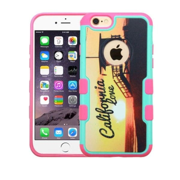 Insten Yellow/ Pink California Love Sunset Hard Snap-on Rubberized Matte Case Cover For Apple iPhone 6 Plus/ 6s Plus