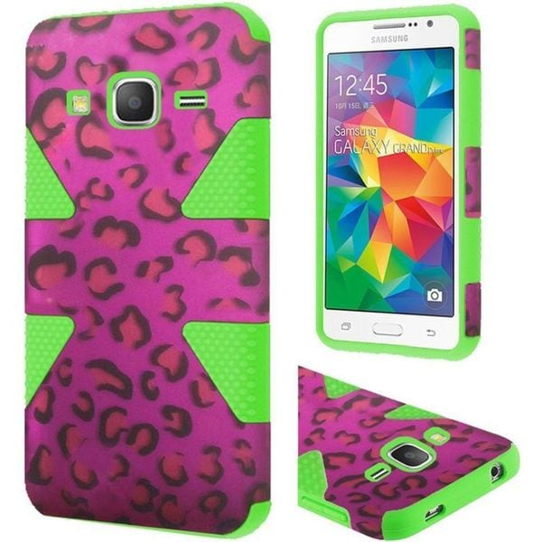 Insten Dynamic hard PC Silicone Dual Layer Hybrid Case Cover For Samsung Galaxy Grand Prime
